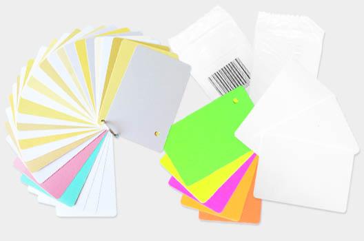 PLASTIC CARD E FONDI COLORATI