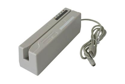 Lettore scrittore di carte magnetiche Lo.Co. ed Hi.Co. USB completo di alimentatore.